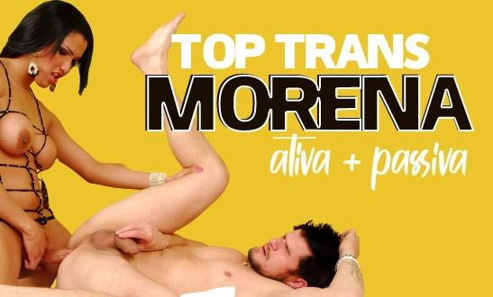Top trans morena ativa e passiva