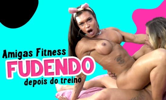 Amigas fitness fudendo depois do treino